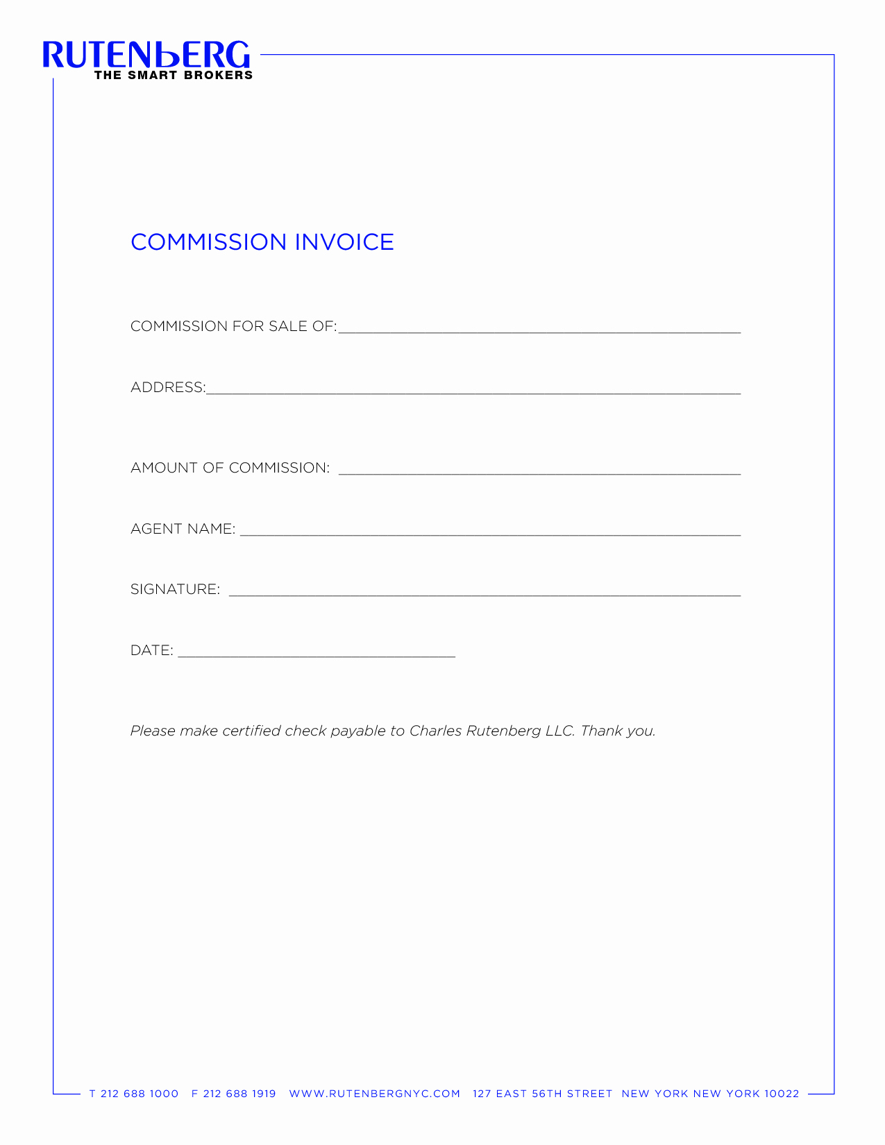 Real Estate Commission Invoice Luxury Elegant Invoice Template