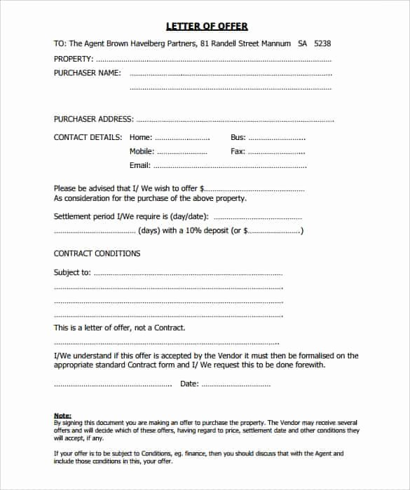 Real Estate Offer Letter Template Free Beautiful 28 Fer Letter format Templates Free Word Pdf Sample