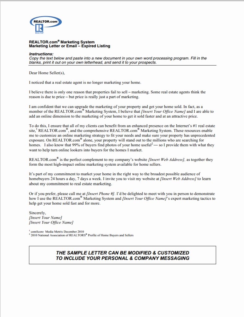 Real Estate Offer Letter Template Free Best Of the Best Expired Listing Letter S for 2014
