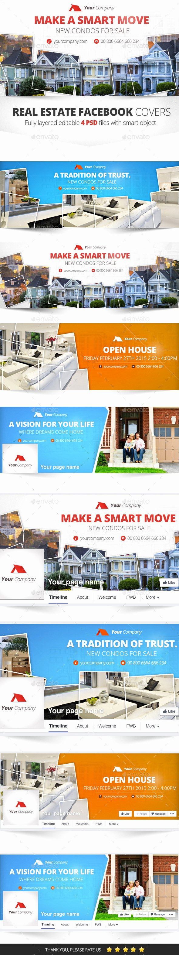 Real Estate Timeline Template Awesome Real Estate Cover 4 Psd by Zokamaric