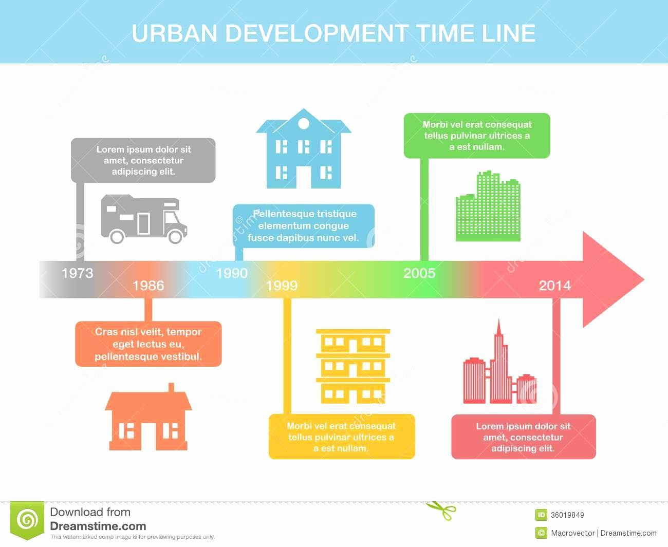 Real Estate Timeline Template Beautiful Infographic Timeline Elements with Real Estate Stock
