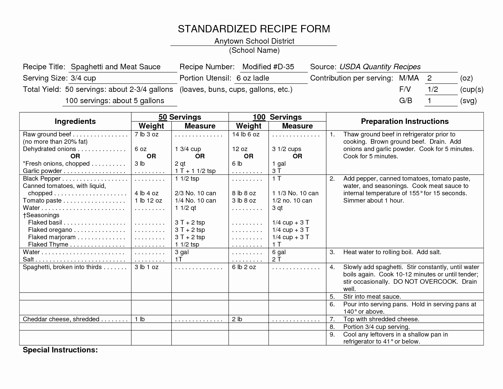 Recipe Cost Card Template Beautiful Standardized Recipes Food Label Pro