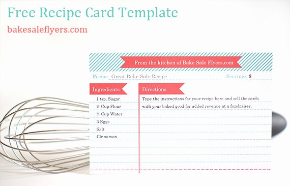 Recipe Cost Card Template Lovely Bake Sale Flyers – Free Flyer Designs