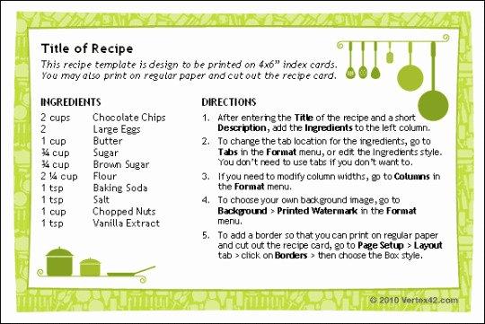 Recipe Template Excel Elegant Blank Recipe Template 8x11 Templates Resume Examples