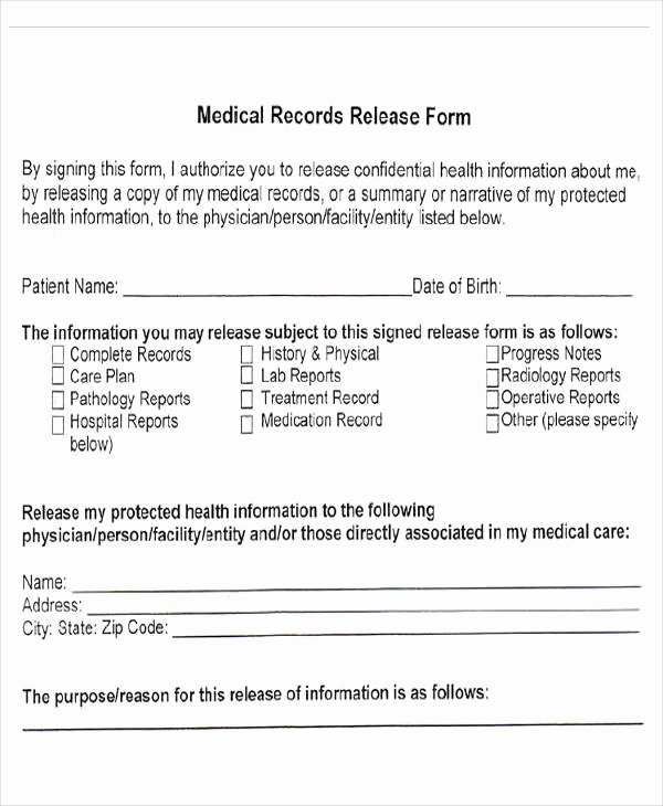 Records Release form Awesome Medical forms In Pdf