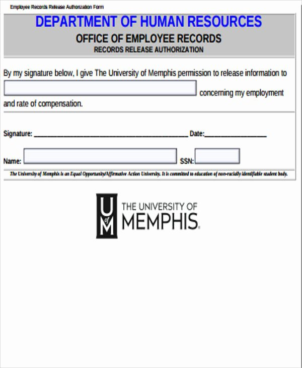 Records Release form Unique Sample Records Release form 9 Examples In Word Pdf