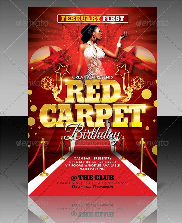 Red Carpet Invitation Template Free Awesome 25 Red Carpet Party Flyer Templates Free & Premium Download