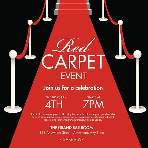 Red Carpet Invitation Template Free Beautiful Royalty Free Red Carpet event Clip Art Vector