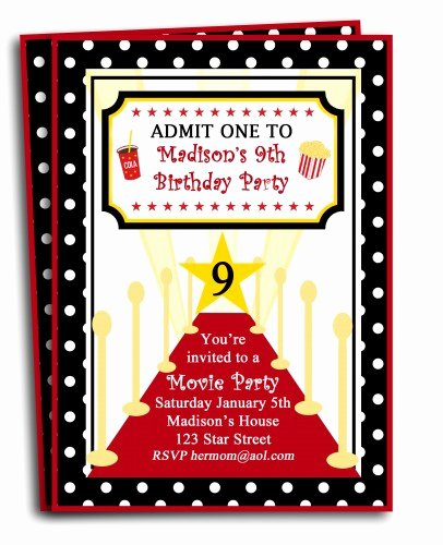 Red Carpet Invitation Template Free Elegant Free Printable Birthday Invitations for Tweens