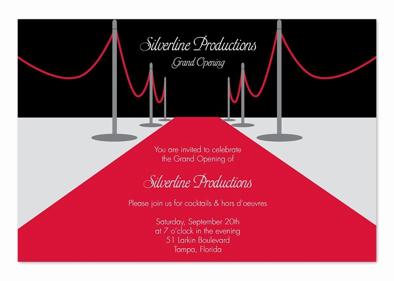 Red Carpet Invitation Template Free Fresh Red Carpet Invitations