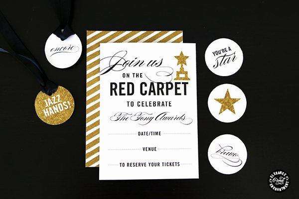 Red Carpet Invitation Template Free Fresh Red Carpet Party Printables
