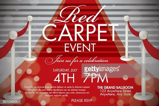 Red Carpet Invitation Template Free New Vintage Style Red Carpet event Invitation Template White