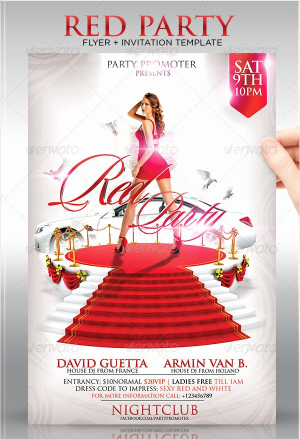 Red Carpet Invitation Template Free Unique 25 Red Carpet Party Flyer Templates Free & Premium Download