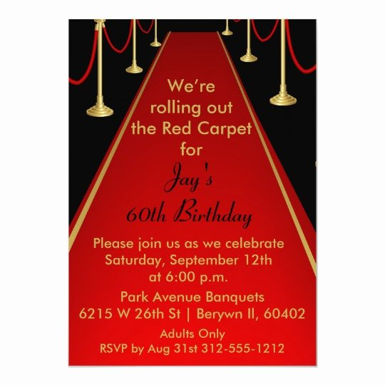 Red Carpet Invitation Template Free Unique Red Carpet Invitation Hollywood theme Sweet 16