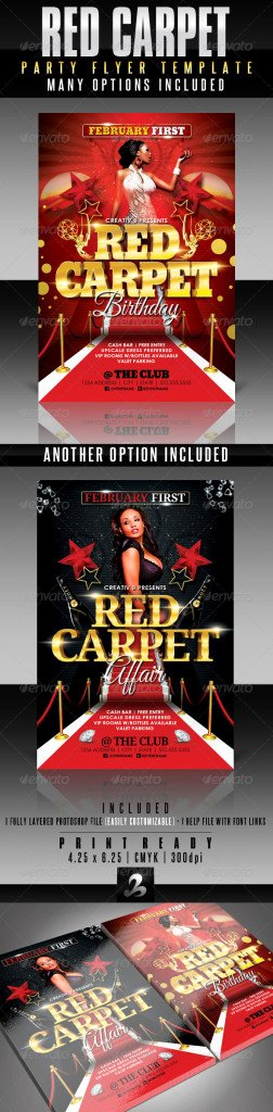 Red Carpet Invitation Template Free Unique Red Carpet Party Flyer Template Print Ad Templates