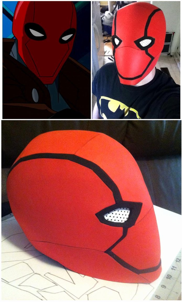 Red Hood Helmet Foam Template Awesome Red Hood Helmet by N8s On Deviantart