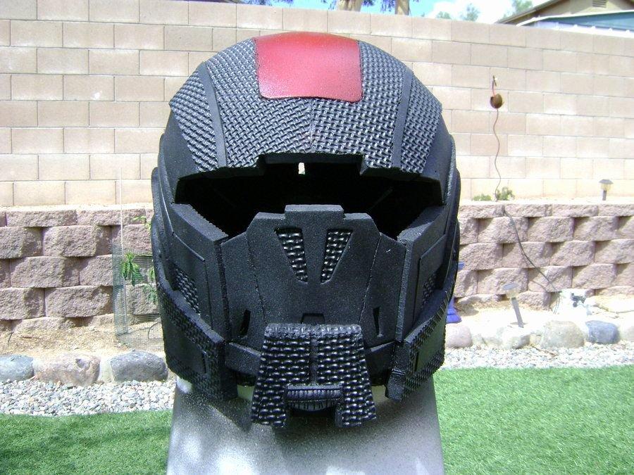 Red Hood Helmet Foam Template Best Of Mass Effect Breather Helmet by Skullqueen57viantart