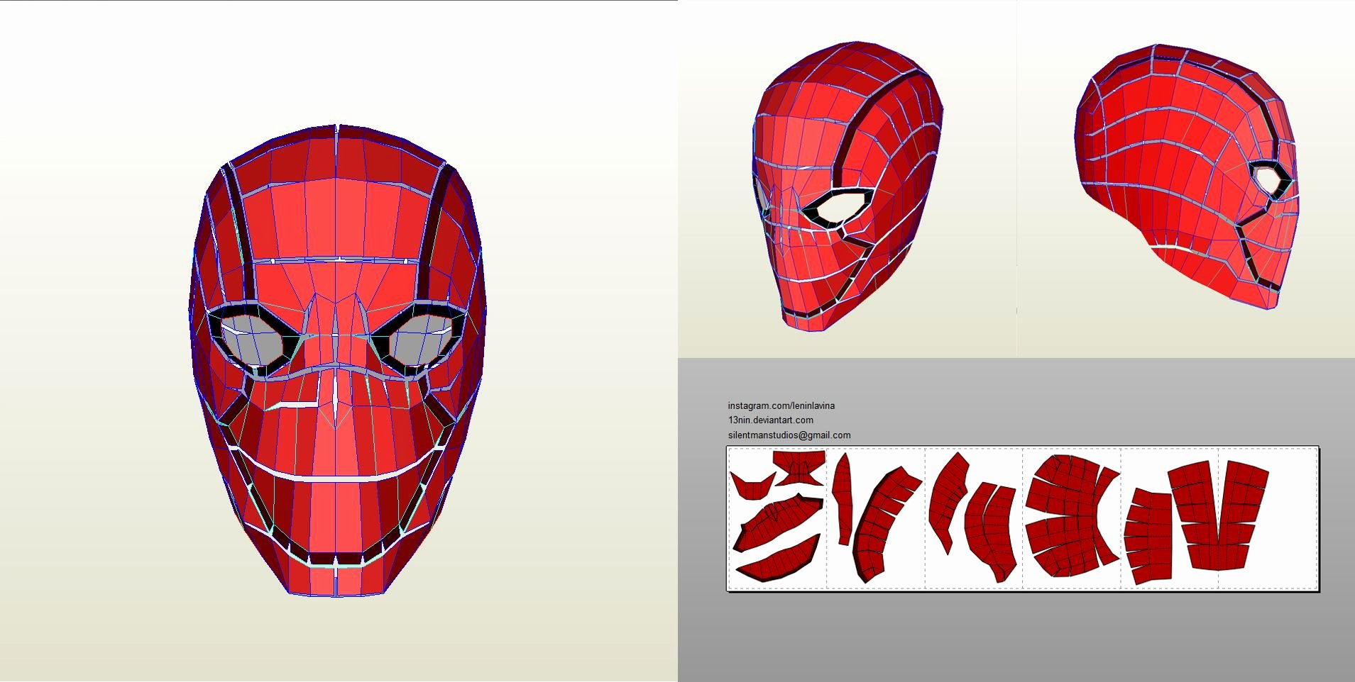 Red Hood Helmet Foam Template Best Of Redhood Pepakura Screenshot Marvel & Dc