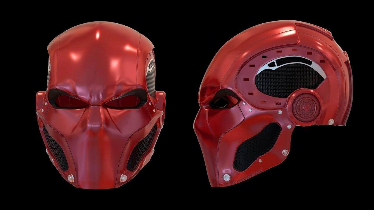 Red Hood Helmet Foam Template Inspirational the Road to Red Hood Part 7 Pleted Helmet Rendering