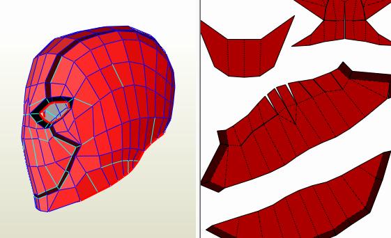 Red Hood Helmet Foam Template Lovely Batimovil 2016 Batman In Pepakura Pdo