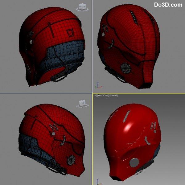 Red Hood Helmet Foam Template New 3d Printable Model Red Hood Arkham Knight Helmet