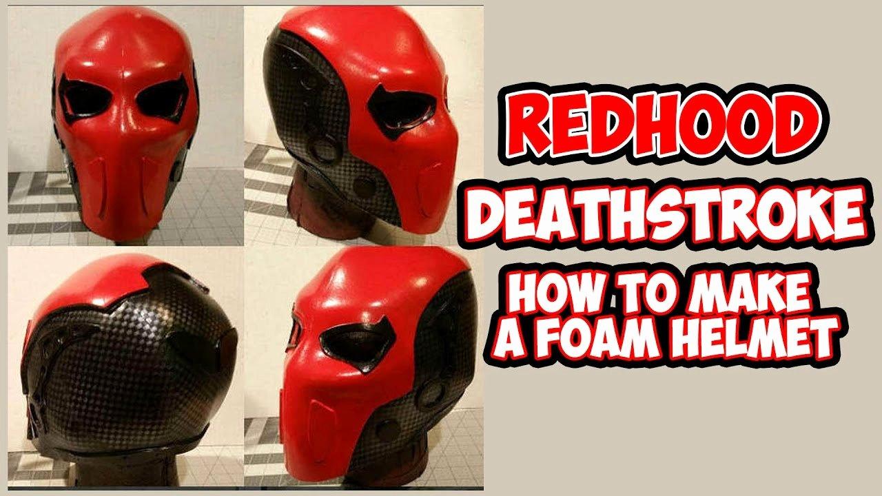 Red Hood Helmet Foam Template New How to Diy Deathstroke Redhood Foam Helmet with Templates