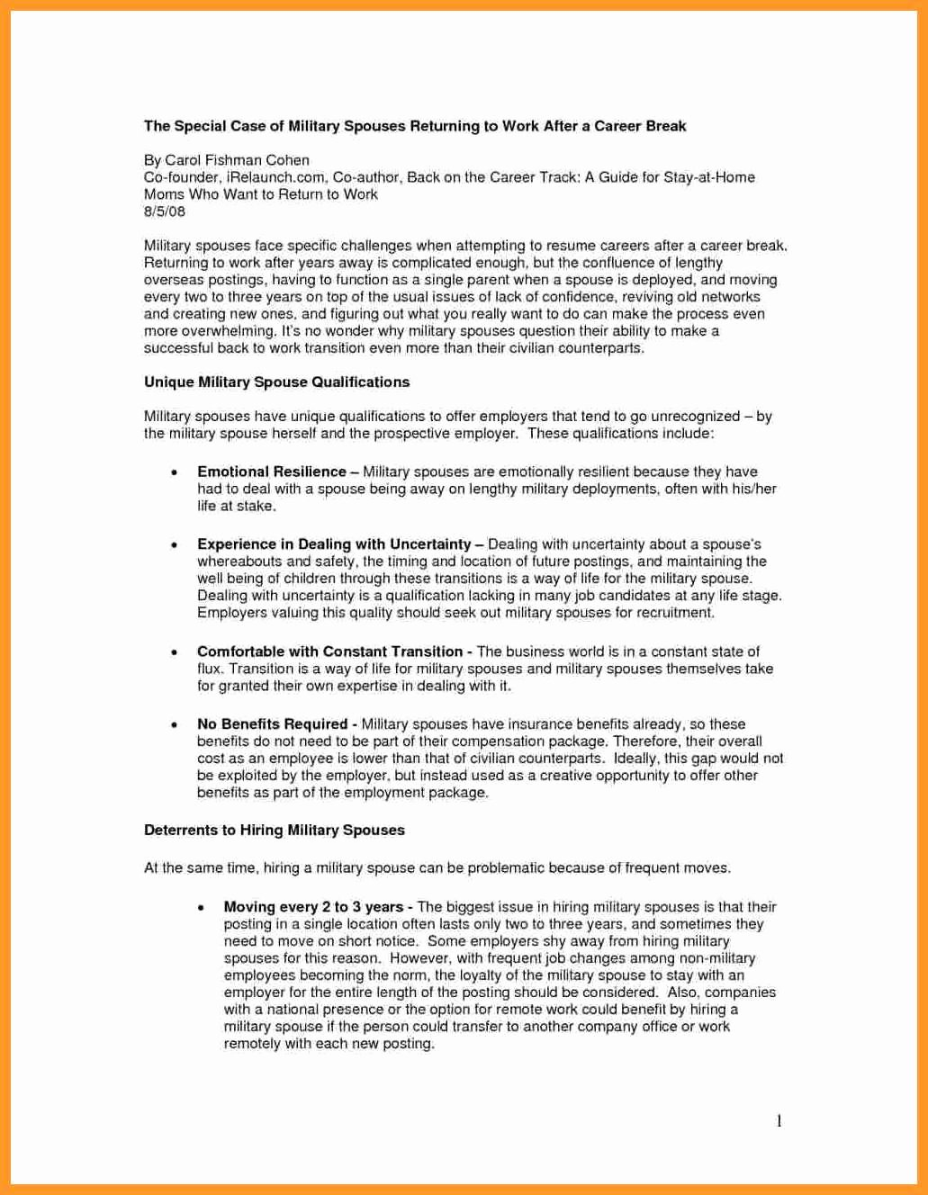 Reentering the Workforce Resume Examples Awesome 11 12 Returning to Workforce Resume