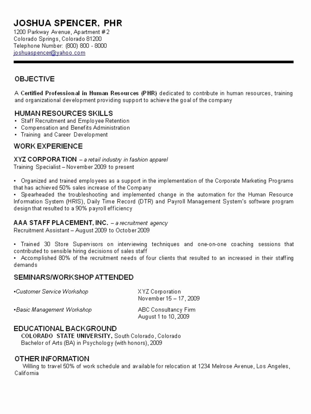 Reentering the Workforce Resume Examples Awesome Types Of Resume Application