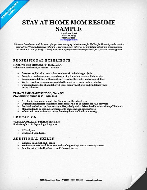 Reentering the Workforce Resume Examples Best Of Resume Back to Work Dscmstat Dscmstat