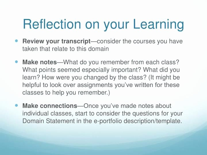 Reflection In English Class Fresh Ppt English 688 Powerpoint Presentation Id