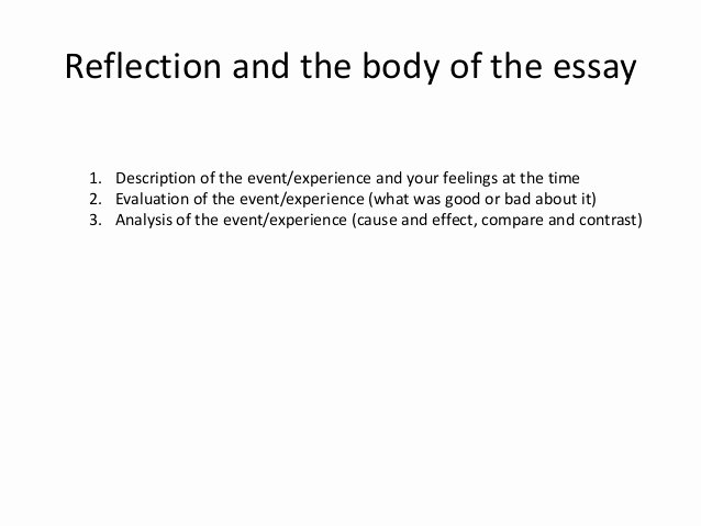 Reflection In English Class Unique How to Write A Reflective Essay