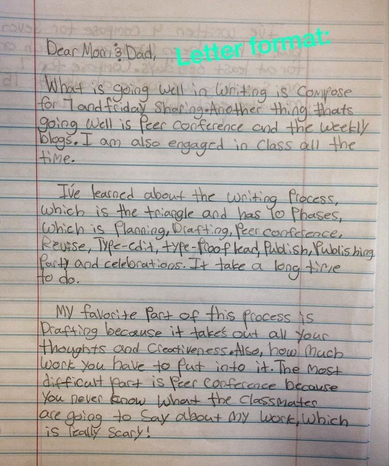 Reflective Letter for English Class Awesome Dear Mom 7th Graders Write Midterm Letters Ethical Ela