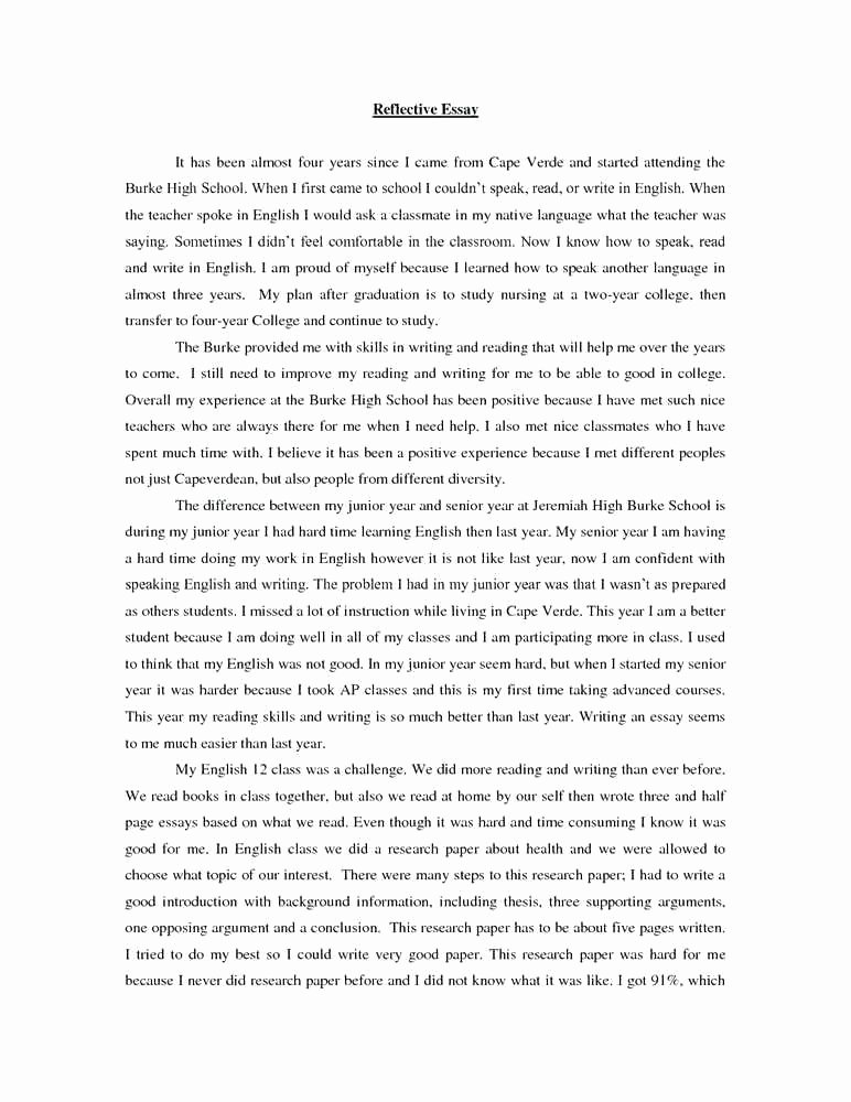 Reflective Letter for English Class Best Of 6 7 Reflective Writing Examples