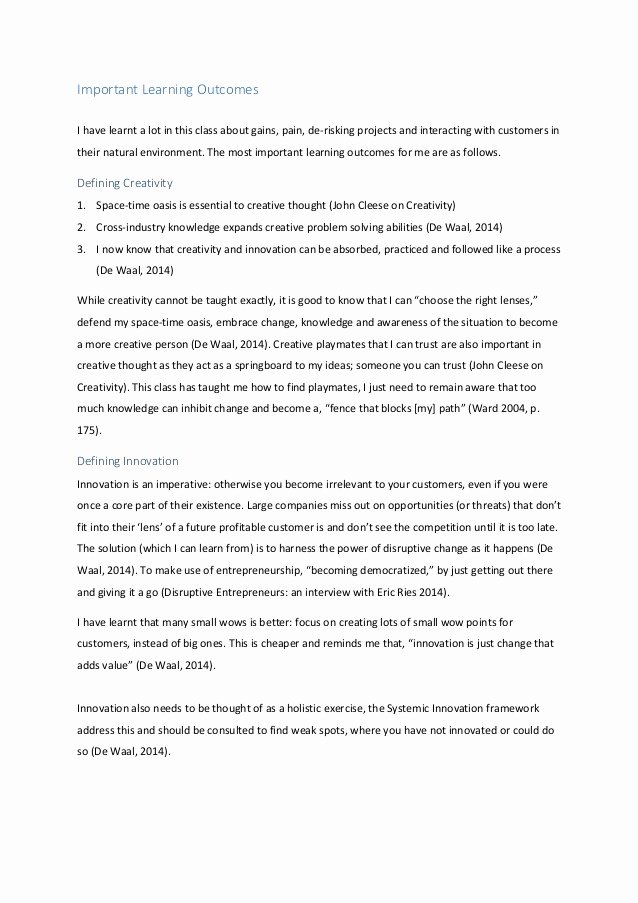 Reflective Letter for English Class Lovely Innovation and Design Essay Bibliographyquizlet X Fc2