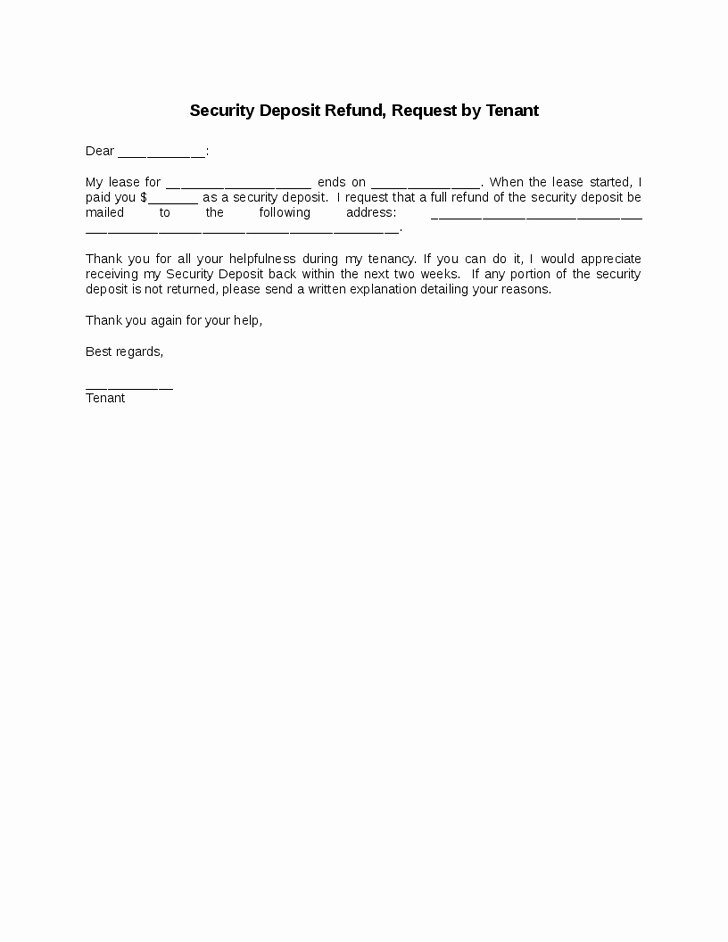 Refund Letter Templates Fresh Refund Letter Template Invitation Template