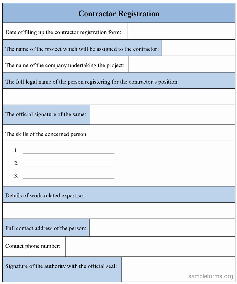 Registration form Template Word Free Elegant Registration form Template Excel