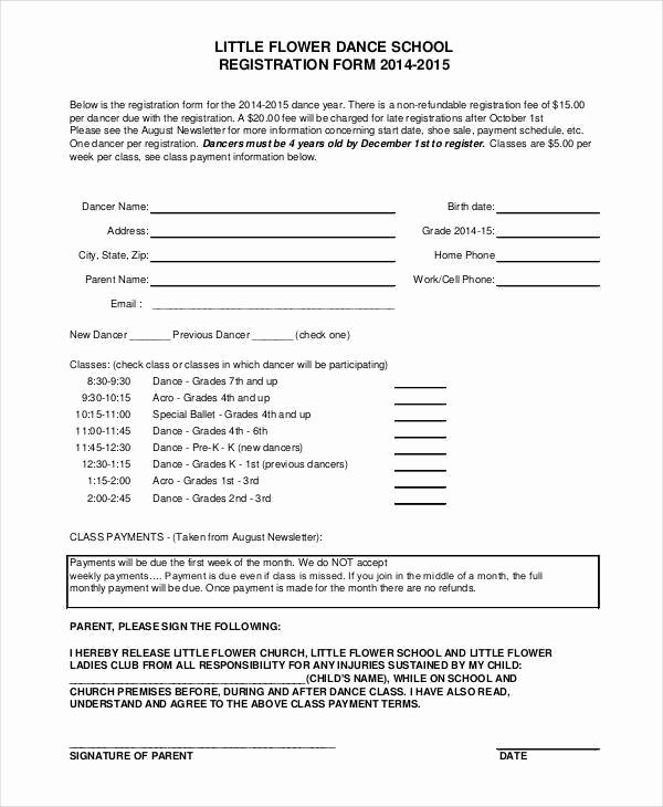Registration form Template Word Free Fresh Baseball Registration form Template Word Templates