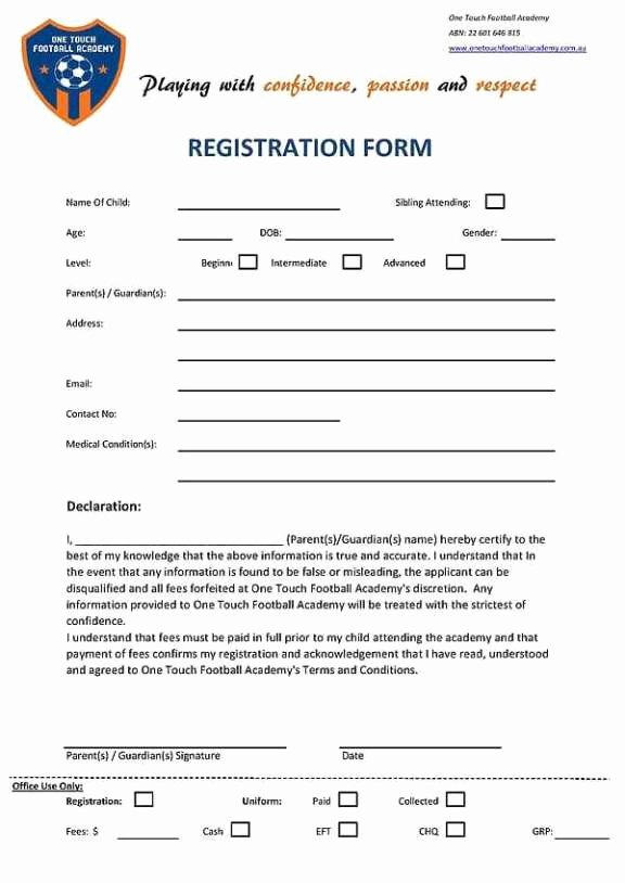 Registration form Template Word Free Inspirational Academy Registration form Templates Find Word Templates