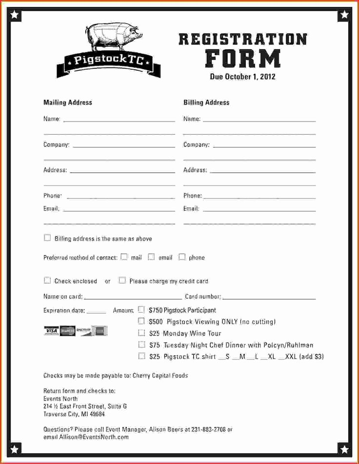 Registration form Template Word Free Luxury Best 25 Registration form Sample Ideas On Pinterest
