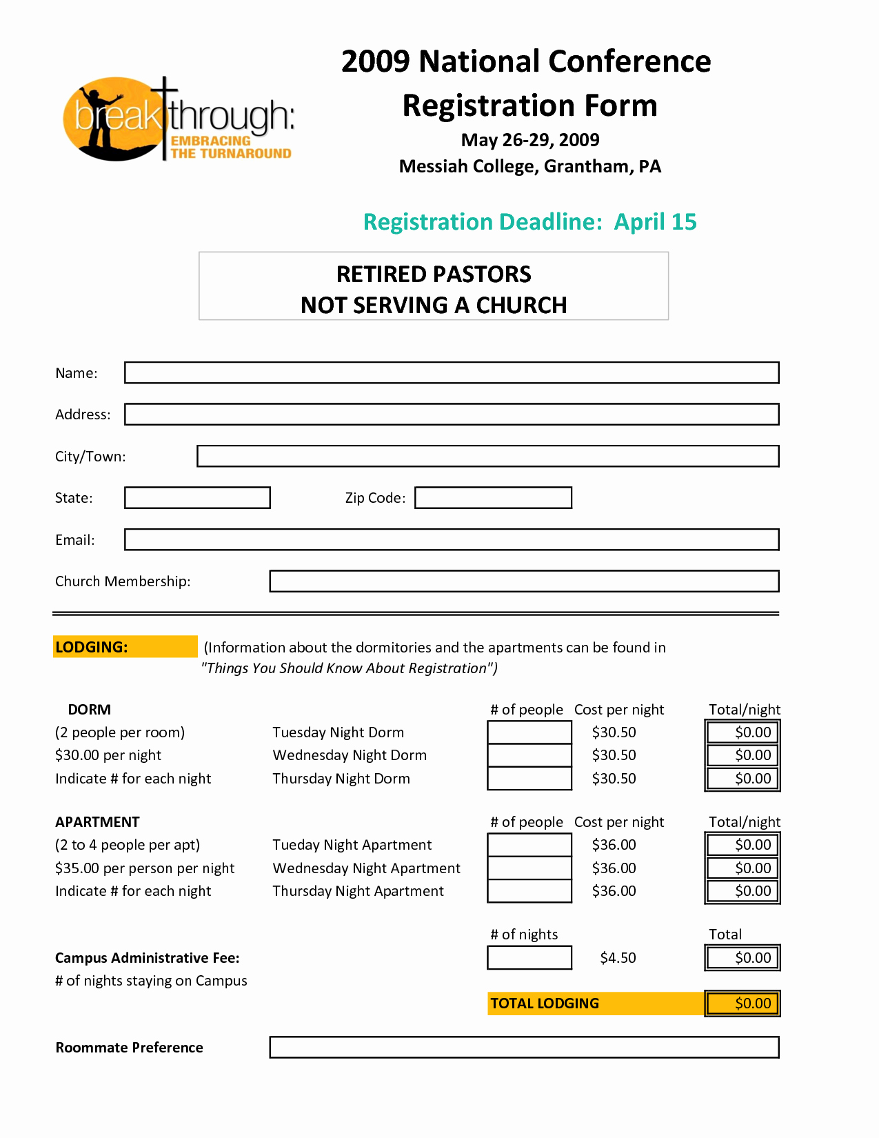 Registration form Template Word Free Unique Registration form Template