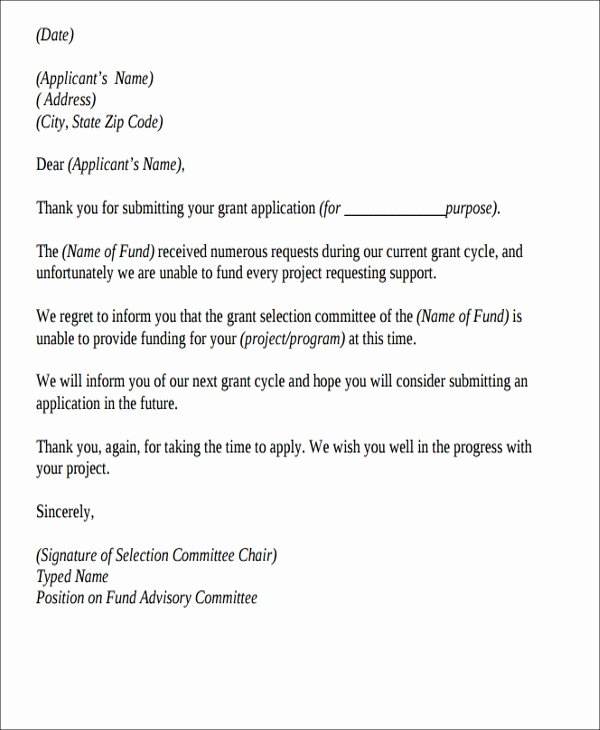 Rejection Letter for Internal Candidate Fresh Applicants Letter Paso Evolist