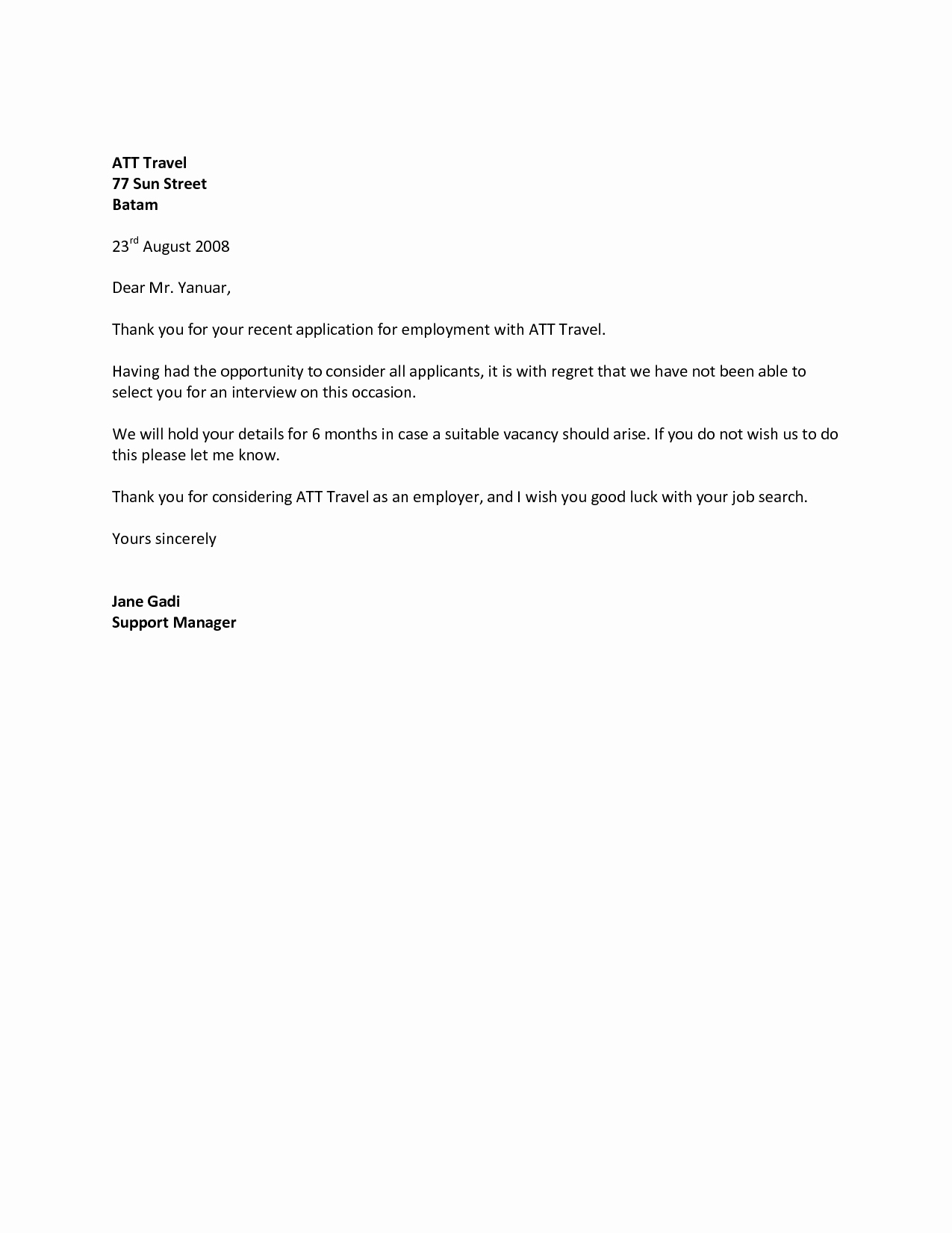 Rejection Letter for Internal Candidate Lovely How to Write A Rejection Letter Employer