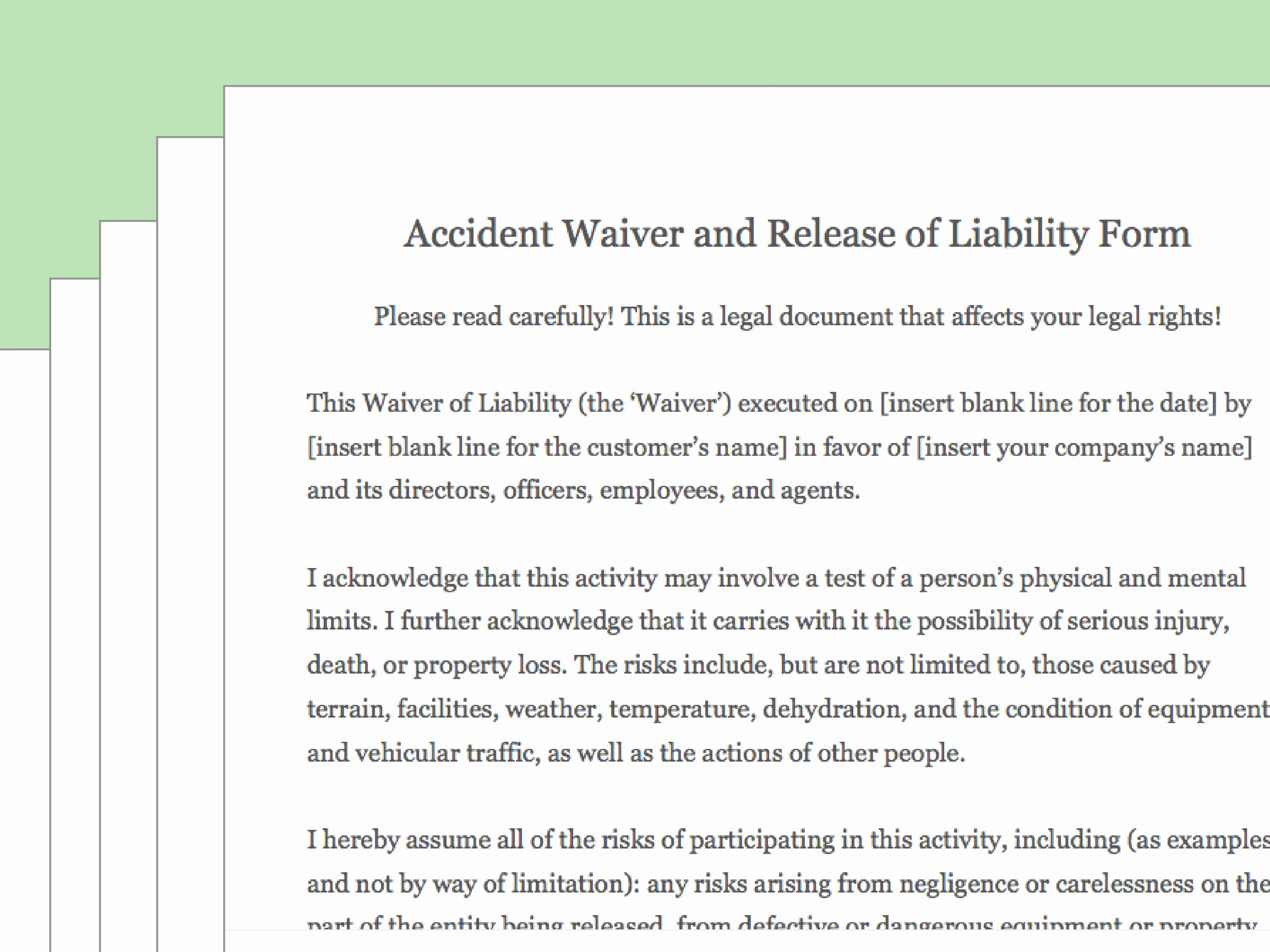 Release Of Liability Template Free New How to Draft A Waiver Of Liability with Wikihow