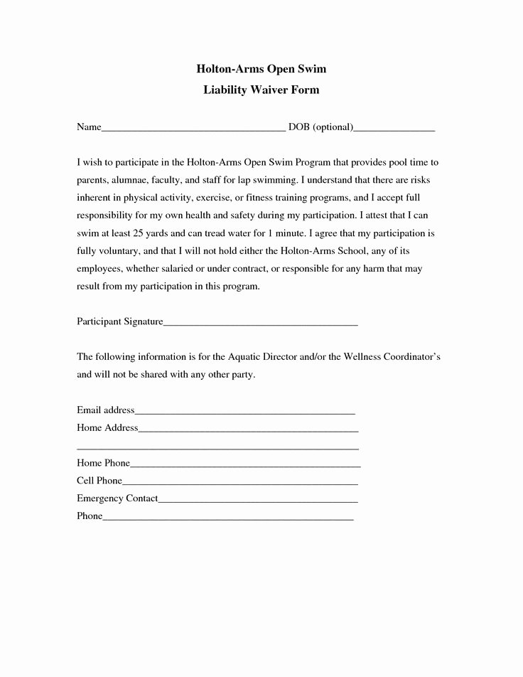 Release Of Liability Template Free New Liability Insurance Liability Insurance Waiver Template