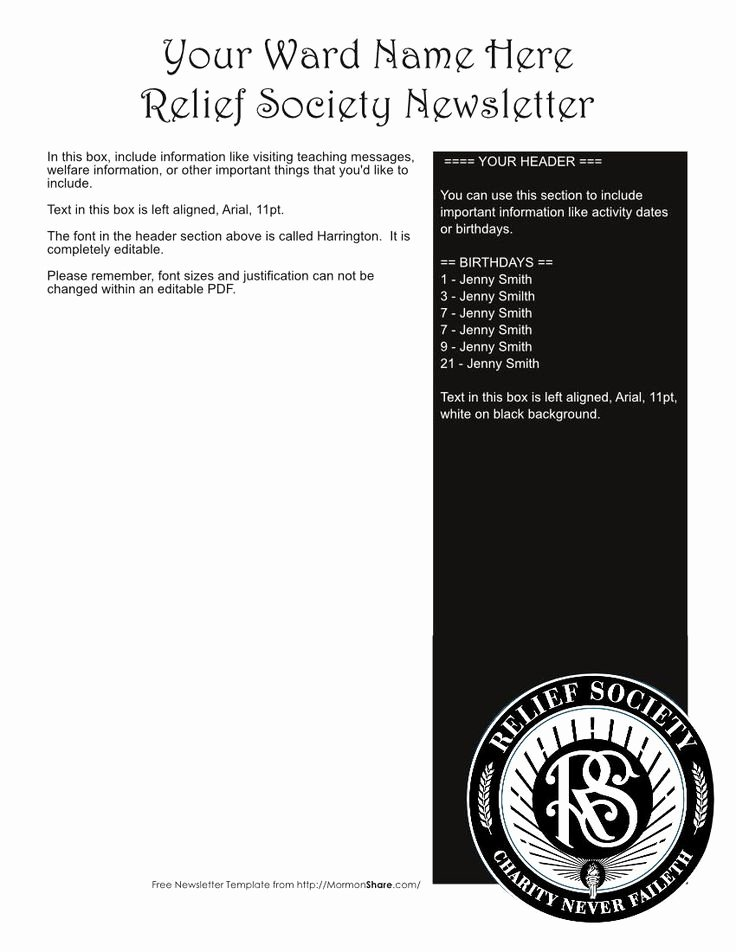 Relief society Newsletters Best Of 1000 Images About Relief society On Pinterest