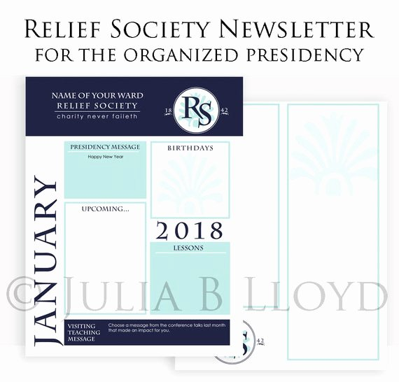 Relief society Newsletters Fresh Newsletter Template Lds Relief society Presidency organized