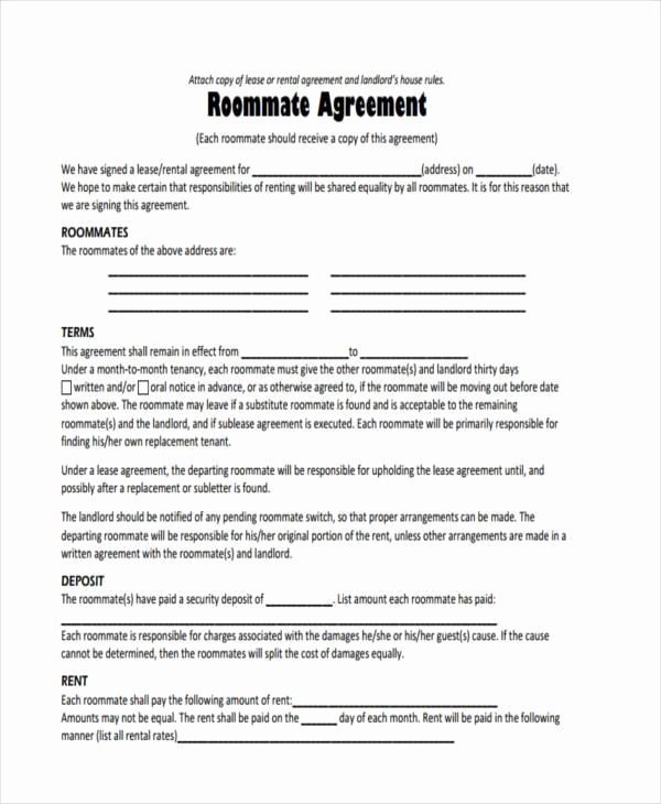 Rent House Rules Best Of 8 Sample Roommate Agreements Free Sample Example