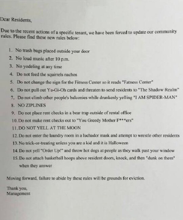 Rent House Rules Inspirational Landlord Posts Hilarious List Rules for Tenants Mandatory