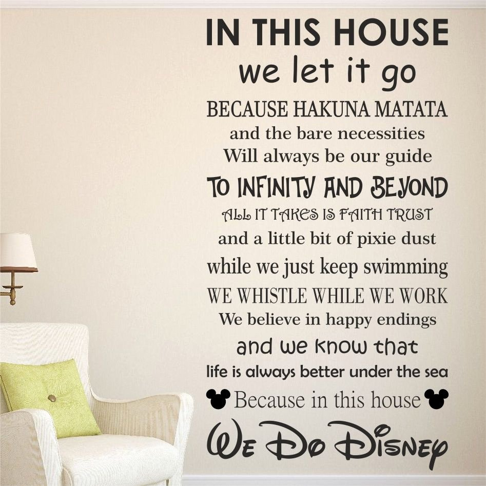 Rent House Rules Unique We Do Disney House Rules Vinyl Wall Art Sticker Quote Kids