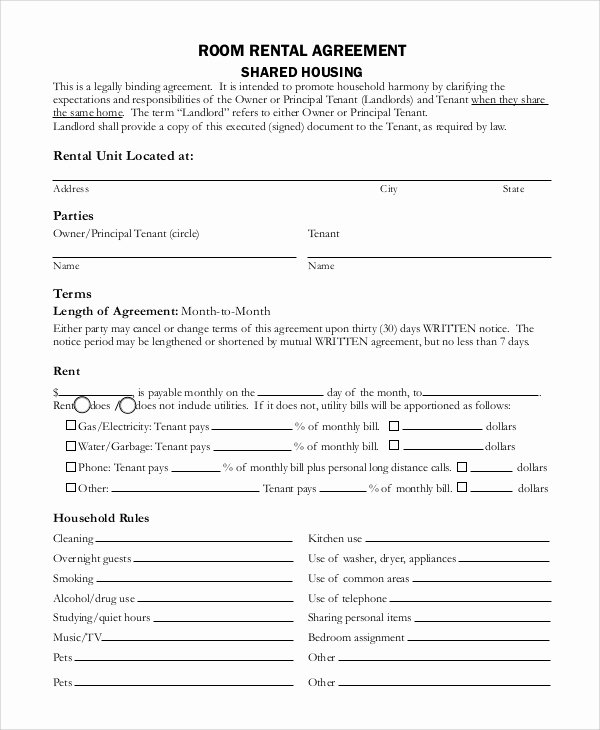 Rent Lease Template Awesome Sample Basic Rental Agreement 8 Examples In Pdf Word